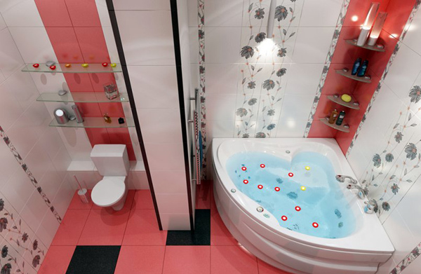 Дизайн ванной комнаты 2017-2018 6 метров